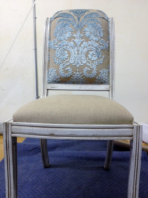 Beautiful chair covered in gorgeous velvet fabric