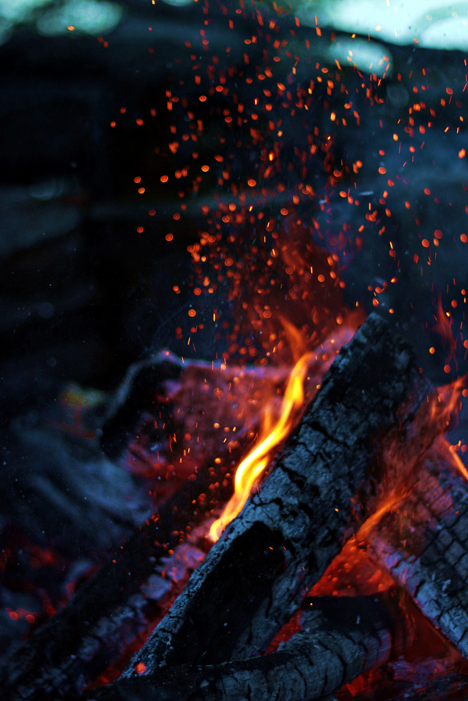 A mesmerizing fire