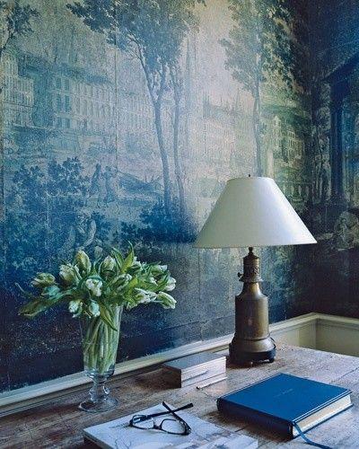 Gorgeous blue wallpaper