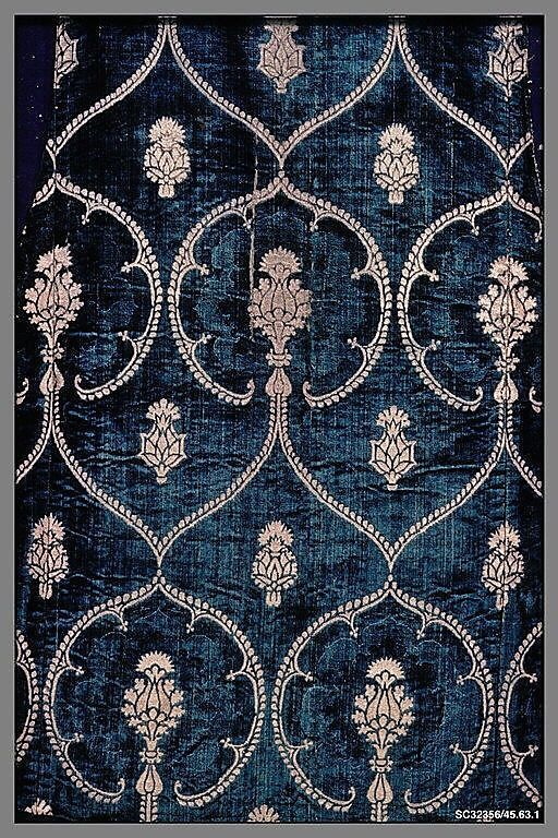 Gorgeous blue velvet fabric